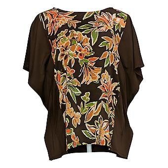 Women's Top Painterly Floral Front Caftan Gold A310930