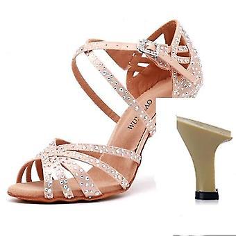 Satin Shining, Strass Soft Bottom, Latin Dance Schuhe Set-1