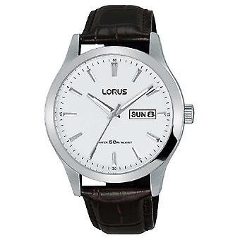 Lorus Mens | White Dial | Brown Leather Strap RXN29DX9 Watch