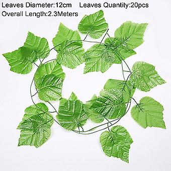 90cm Artificial Green Plants Hanging Ivy Leaves Radish Seaweed Grape Fake