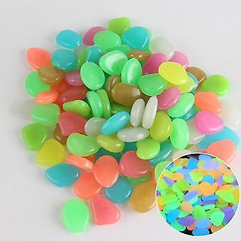 Dark Pebbles Glow Stones Rocks Luminous Pebble For Outdoor Decoration