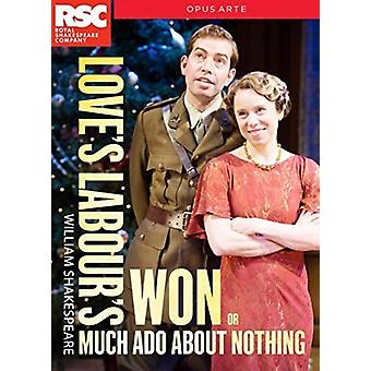 Love's Labour's Won (Aka Much Ado About Nothing) [DVD] USA import