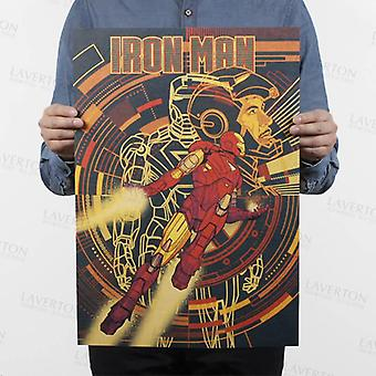Marvel Hero Iron Man Vintage Kraft Paper Classic Movie Poster Home Decor