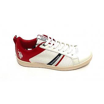 Zapatos Nosotros Polo Zapatillas Para Hombre Mod. Greyson Eco + Malla Whi/rojo Us20up22