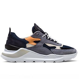 Men's Sneaker D.a.t.e. Escape Mesh Blue And Orange