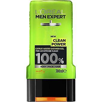 L'Oreal Men Expert Clean Power Shower Gel - 300ml