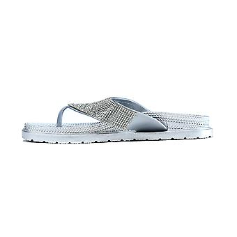 The Household Name Flip Flop Silver