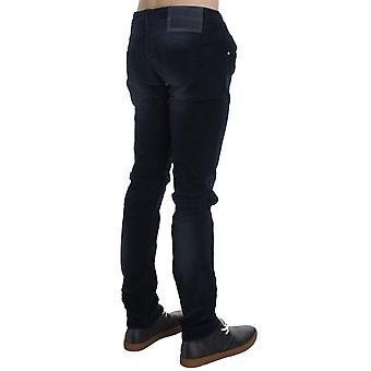 Acht Blue Wash Cotton Stretch Slim Fit Jeans
