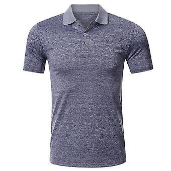 YANGFAN גברים חולצת פולו שרוול קצר מהיר יבש גולף חולצה