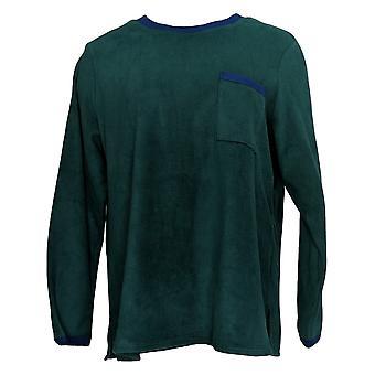 Cuddl Duds Women's Regular Fleecewear Stretch Pajama Top Green A381825