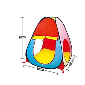 Children's Indoor Foldable Tent With 50 Pieces Of Ocean Ball Pool Baby Playhouse