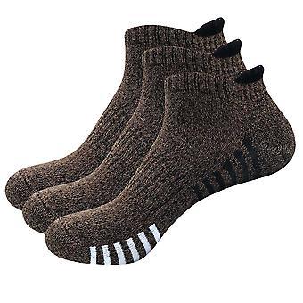 Allthemen 3 paria Men's Urheilu Mon-slip, Anti-Blister pehmustettu Puuvilla sukat Deodorantti Sukat