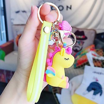 Cute Unicorn 3d Keychain Female Car Key Pendant