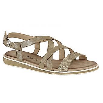 Cipriata Marcella señoras strappy sandalias oro brillo