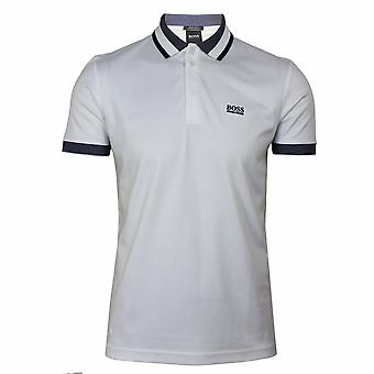 Hugo boss athleisure paddy 1 men's white polo shirt
