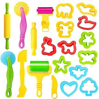 FengChun Knete Zubehr Kinder Knetwerkzeug Teig, 20 Stk Knete Ausstechformen Plastilin Werkzeug Set