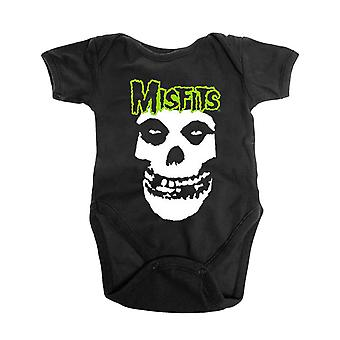 Misfits Baby Grow Skull and Logo new Official Black 0 to 24 Months