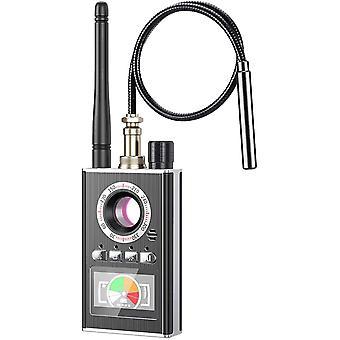 Senmubery RF جاسوس كاشف يخفي كاشف الكاميرا، كشف الشوائب اللاسلكية إشارة الليزر GSM عدسة والاستماع جهاز الكشف (أسود)