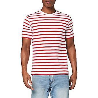 Armor Lux Morgat T-Shirt, Multicolored (Blanc/Braise 320), X-Large Men
