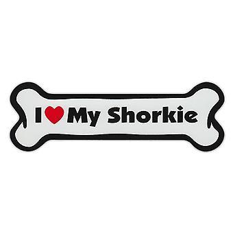 """المغناطيس ، الكلب العظام ، وأنا أحب بلدي شوركي (شيه تزو ، يوركشاير الكلب) ، 7 """""""