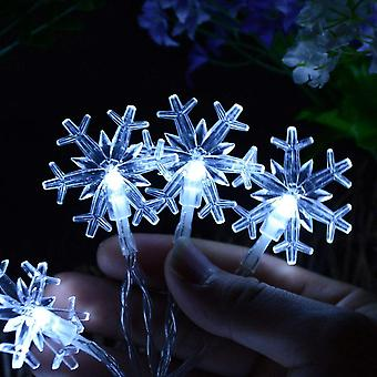 Led Snowflake Decoration String Lights