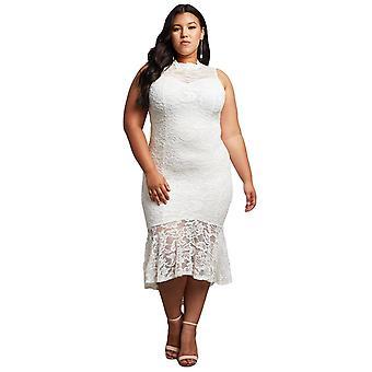 Кружева Высокий Низкий Плюс Размер партии платье