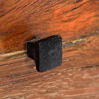 vidaXL Nachtkastje 40x30x50 cm Massief afval hout en staal