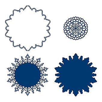 Tattered Lace Snowflake Doily Die Set