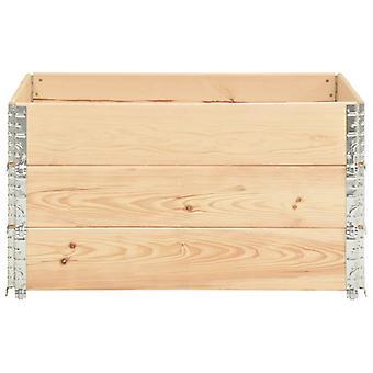 vidaXL Pallet top frame 3 pcs. 50×100 cm solid pine wood