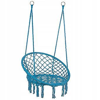 Hangstoel ooievaarsnest 60 x 60 cm – Blauwe franjes
