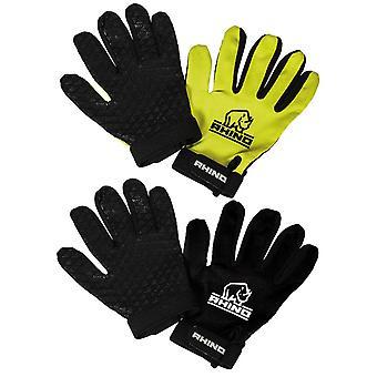 Rhino Pro Full Finger Mitts Yellow Junior Medium/Large