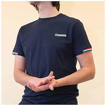 Lambretta Tipped Piqué Camiseta - Marina