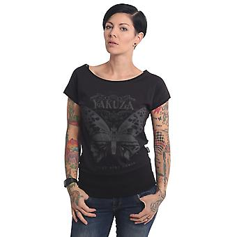YAKUZA Women's T-Shirt Dead Butterfly Wide Crew