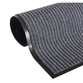Dørmåtte XXL 240 x 120 cm – Indgangsmåtte grå ribbet