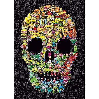Heye Doodle Skull Jigsaw Puzzle (1000 Pieces)