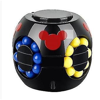 Fingertip Burger Cube Puzzle Gyroscope Magic Bean Toy Magic Bean Children Decompression Toy(Black)