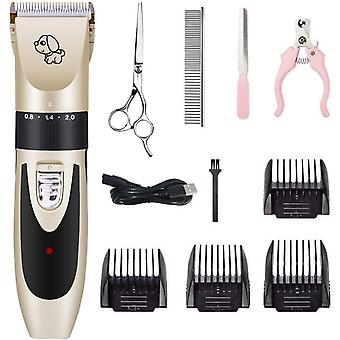 Rechargeable Pet Hair Grooming Clippers Kit