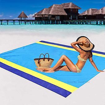Waterproof beach towel blanket pocket sand free towel large portable mat beach camping outdoor towel beach picnic mat towel