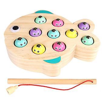 Lapset Puinen magneettinen kalastus peli koulutus lelut lapsille ulkopuutarha lelut