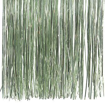 LAST FEW - 50cm Sage Green Foil Lametta Tinsel For Christmas Decoration