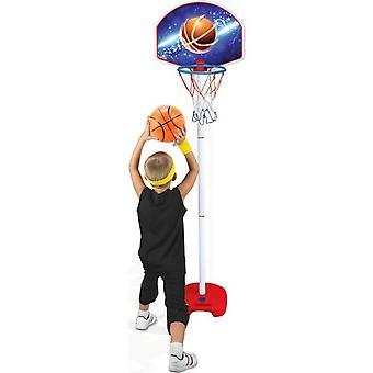 Dede  Basketball Stand Sure Shot Basketball Hoop?Net Ball Hoop  Plastic Backboard , Height Adjustable With Inflator Toys For Children