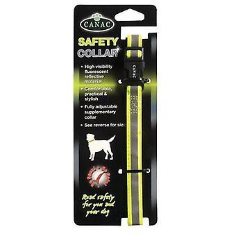 Beaphar reflekterende sikkerhetskrage gul og grå