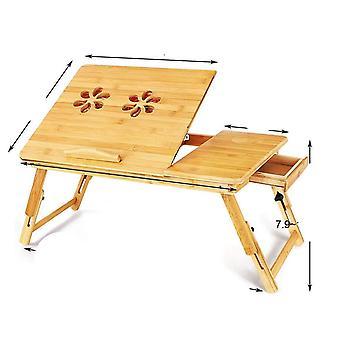 Деревянный портативный складной компьютер ноутбук стол регулируемый стол для ноутбука
