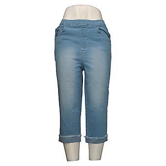 Denim & Co. Jeans Femme Pull-on 5-Pocket Capri w / Roll Cuff Bleu A375860