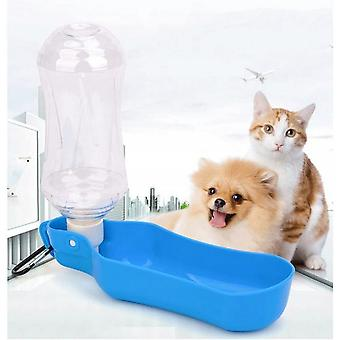 Drink Fountain, Portable Travel Water Bottle For Dogs, Cats, Rabbits, Pigs Of India And Other Pets Foldable-500 Ml Red
