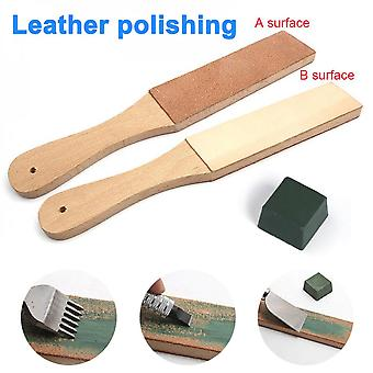 Dual Sided Leather Blades Strop Cutter Razor Sharpener Polishing Board Sharpen Home Tools