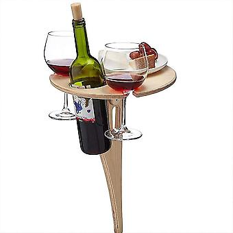 Outdoor Portable Wine Table, Wine Glass Holder Picnic Table, Party Wine Table, Garden Travel