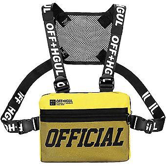 Streetwear Men Hip-Hop Torba na klatkę piersiową Tactical Two Straps Rig Rectangle Utility Pack
