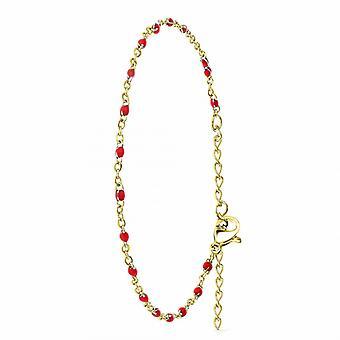 Bracelet Femme Ang�le M - B2395-ROUGE Acier Dor�