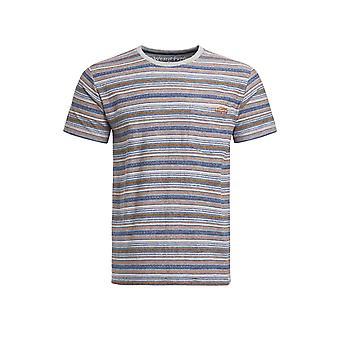 Anderson Jacquard T-Shirt rayé Rust
